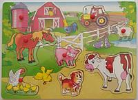 Деревянная рамка-вкладыш Домашние животные