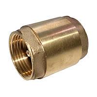 Клапан обратный латунный муфтовый Ду50 (латунный шток)