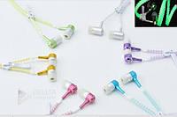 Наушники змейка светящиеся Z-03, mini jack 3.5, фосфорные наушники, 1.2м длина шнура, микрофон, чистое, приятное звучание, наушникик вкладыши