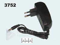 Блок питания 27W DC 12V 3А, IP 20, штекер 5,5/2,5мм, пластик, Источник питания DC 12V 3А