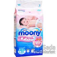 Детские подгузники Unicharm Baby diapers Moony L RS54, 9-14кг