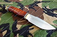 Нескладной нож  для туризма и путешествий  рукоять наборная кожа