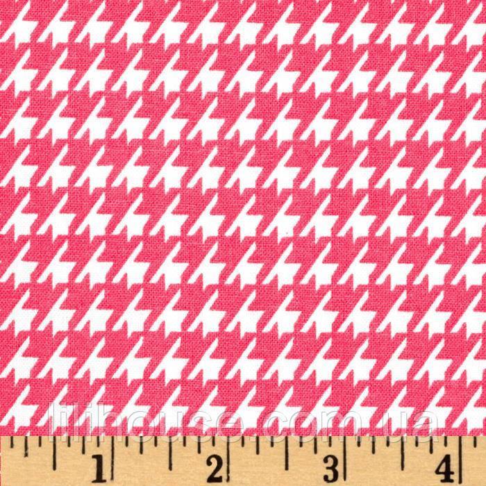 """Ткань для пэчворка и рукоделия американский хлопок """"Лапка розовая"""", 20*55 см"""