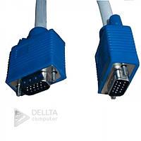 Кабель, провод VGA 3+4 M / M 10м white, Кабель, провод для монитора VGA 3+4 M/M 10м