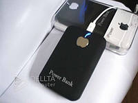 Портативное зарядное устройство Power bank Apple, 2 выхода USB, фонарик,  внешний аккамулятор для Apple