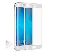 Защитное стекло для Samsung Galaxy S7 Edge белое, углы закругленные, глянцевая, защитные стекла для Samsung, защитные пленки и стекла