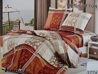 Сатиновое постельное белье евро ELWAY 3774