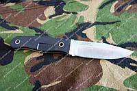 Нож охотничий  прочный ,рукоять G10 ,кожаные ножны