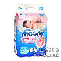 Детские подгузники Unicharm Baby diapers Moony NB RS90, 0-5кг