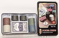 Набор фишек для покера 80 шт + карты