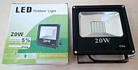 Прожектор LED SMD FL-20W, 1500 Лм, 6400 К, Наружное освещение