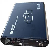"""Корпус для DVD привода 505 черный, 3.5"""", USB2.0, до 800Mps, SATA 1.5GB, аллюминий / пластик,  силовой кабель"""