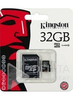 Карта памят KINGSTON 32Gb class 4, Карта памяти 32Гб