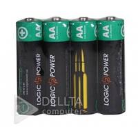 Батарейка LogicPower alkaline LR6 4шт, 1.5В, мини-пальчиковая, батарейка для пульта LogicPower alkaline LR6 4шт