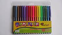 """Фломастеры цветные """"От А до Я""""  18цв (истек срок годности или порвана упаковка) для рисования и детского творч"""