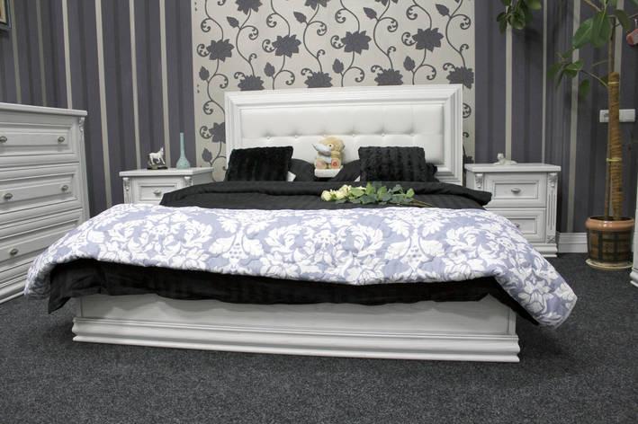 Деревянная двуспальная кровать (ясень), фото 2