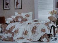 Сатиновое постельное белье евро ELWAY 3955