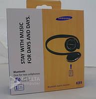 Наушники беспроводные Samsung c bluetooth K 89, microSD, Bluetooth, подключение до 8 устройств одновременно, наушники блютуз