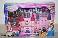 Замок SG-2964 с мебелью,куклами,каретой батар.муз.свет
