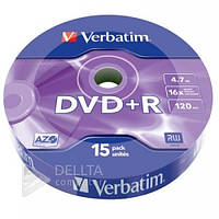 Диск для записи DVD-R VERBATIM 15 шт., Скорость записи 16х, 4,7 Гб, (Цена указана за 1шт)