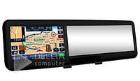 """Зеркало заднего вида GPS навигатор + bluetooth 4301, MicroSd, 4.3 """"TFT, GPS, 159 dBm, Видеорегистратор для авто"""