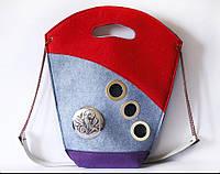 Сумка женская трех цветов на плечо от украинского дизайнера