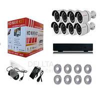 Комплект видеонаблюдения на 8 камер FS-6233N10, POE, IP-камера, 8-канал, комплект видеонаблюдения