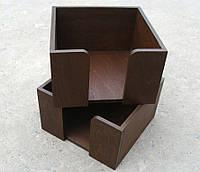 Салфетница квадратная, цвет КОРИЧНЕВЫЙ, 9 см