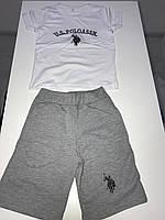 Футболка поло и шорты , детский костюм на мальчика