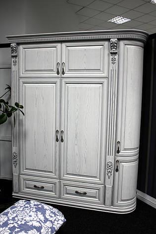Белый деревянный шкаф для спльни, фото 2