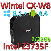Мини ПК Wintel CX-W8 2G/32G dual OS Windows 8.1 + Android 4.4 Intel Z3735F