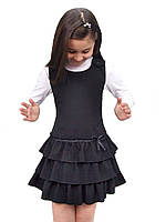 Сарафан школьный для девочки М-918 рост 116-146 черный, синий, зеленый,бордовый