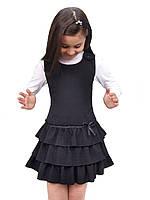 Сарафан школьный для девочки М-918 рост 116 122 128 134 140 и 146 черный, фото 1