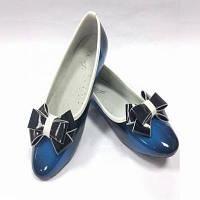Туфли школьные для девочки 3586-1013 синий