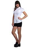 """Блузка детская для девочек школьная М-923  рост 146 и 170 белая тм """"Попелюшка"""", фото 2"""