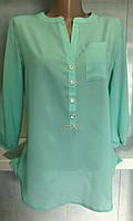 Женская строгая блуза из креп шифона