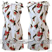 Женское летнее платье с бантами