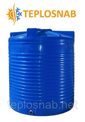 Емкость вертикальная двухслойная  RVД 1000 (107х122) 1000 литров, фото 2