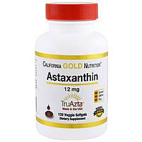 California Gold Nutrition, Натуральный астаксантин, тройная сила,  , без ГМО, 12 мг