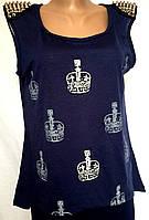 Женская футболка - майка женская кэжуал, размер L/XL, фото 1
