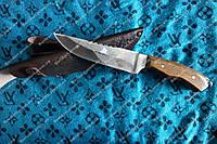 """Нож охотничий """"Парусник """",гравировка ,кожаные ножны"""