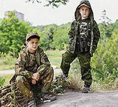Костюмы детские камуфляжные