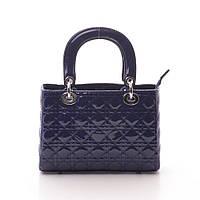 Женская синяя сумка Dior style mini стеганая