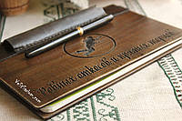 Блокнот.Деревянный блокнот.Блокнот с деревянной обложкой.Обложка деревянная для тетради.Подарок креативный.