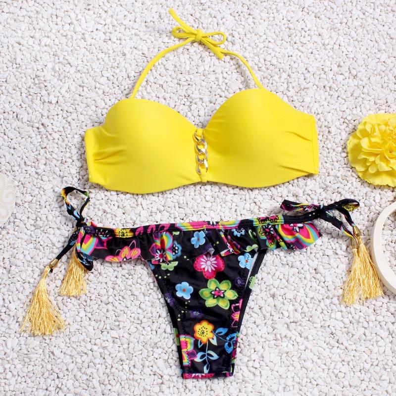Женский купальник yellow-flower размер M