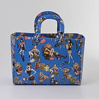 Женская сумка синяя Dior style girls