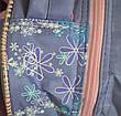 Школьный рюкзак для девочки с 3Д цветочками сиреневый, фото 3