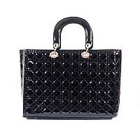 Женская черная сумка Dior style стеганая