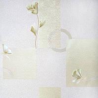 Обои бумажные 787-09 абстракция зеленая