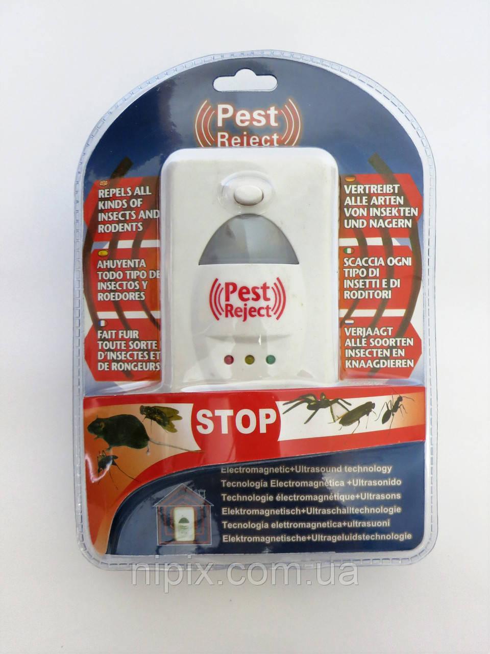 Ультразвуковой и электромагнитный отпугиватель грызунов и насекомых Pest Reject Пест Риджект